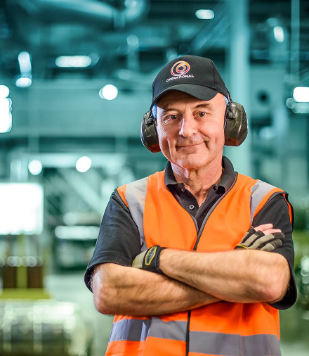 Happy Operational Worker